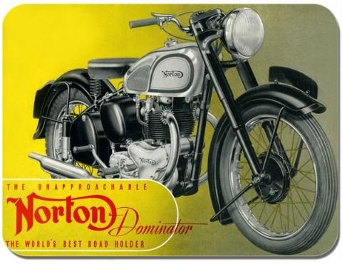 Vintage Norton Dominator Advert Poster Motorcycle Mouse Mat Motorbike Mouse Pad